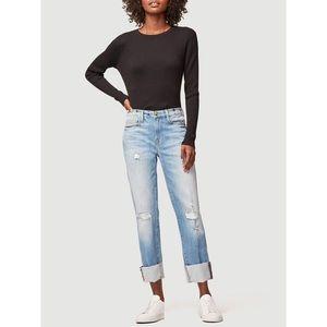 NWT Frame Le Nouveau Straight Raw Big Cuff Jeans